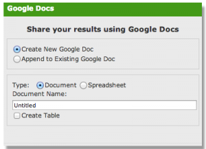 Google Docs and SweetSearch