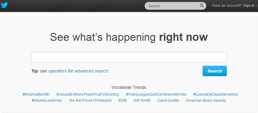 Twitter com search – To Google or not to Google?